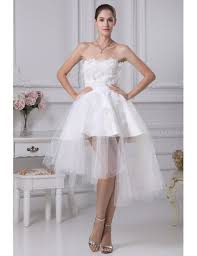 cheap short wedding dresses tulle strapless beautiful satin lace