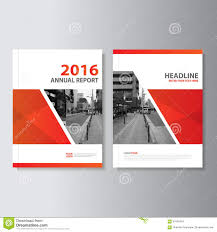 Annual Report Cover Page Template by Red Vector Annual Report Magazine Leaflet Brochure Flyer Template