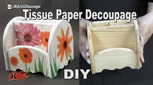 diy how to decoupage wooden pen holder jk arts 972 youtube