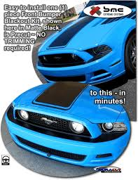 Blacked Out 2014 Mustang Ford Mustang Front Bumper Blackout Highlight Graphics Kit 2013