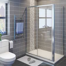 elegant 1200x700mm bathroom sliding shower enclosure and tray door