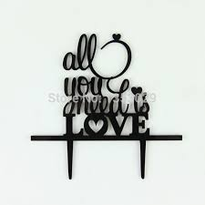 all you need is cake topper aliexpress buy free shipping all you need is wedding