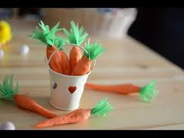Easter Decorations Made From Paper diy how to make paper carrots filled with sweets easter