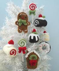 Amigurumi Christmas Ornaments - amigurumi crochet christmas sweets ornament pattern set