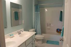 beautiful paint color for small bathroom using blue wall paint