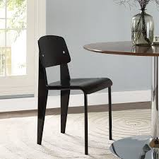side chairs for dining room modway cabin dining side chair in black beyond stores