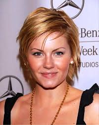 pictures short hairstyles layered for long faces