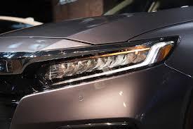Honda Accord Lights 2018 Honda Accord Debuts With Turbo Engines 10 Speed Transmission