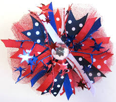 fourth of july hair bows ribbon alwaysunderpay