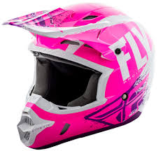 purple motocross gear kinetic burnish neon pink white purple helmet fly racing