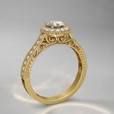 what is milgrain 2 ctw milgrain halo diamond engagement ring in 14k yellow gold