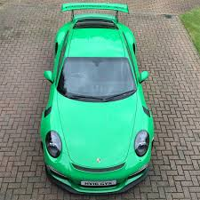 porsche gt3 green 2016 rs green porsche 911 gt3 rs for sale at 321 000 in the uk