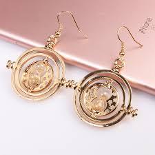 unique earrings aliexpress buy time turner drop earrings gold silver