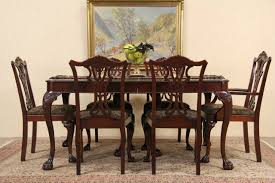 sold georgian style 1940 u0027s mahogany dining set table 6 chairs
