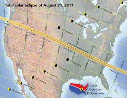 Arizona Strip Map by The Total Solar Eclipse Of August 21 2017 Dyer Vanderbilt