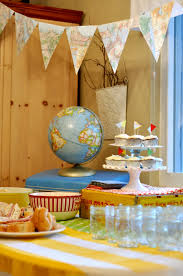 going away party banner made from map food party pinterest