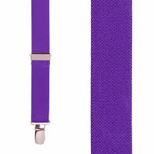 deep purple color clip suspenders 1 inch wide suspenderstore