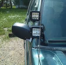dual led light pod bracket kit 3x3 for 84 01 jeep xj omc offroad