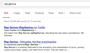 google has officially penalized rap genius for link schemes search