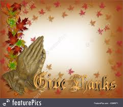 thanksgiving announcement illustration of praying hands thanksgiving card