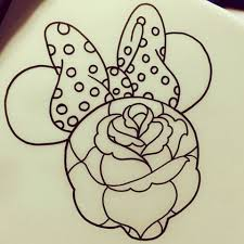 outline flower patterned minnie mouse tattoo design tattooimages biz