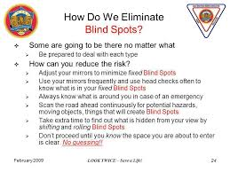 How To Know Your Going Blind February 2009 Look Twice U2013 Save A Life 1 Blind Spots Seminar Gold