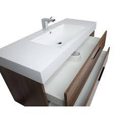 Contemporary Bathroom Sinks 47 Inch Contemporary Bathroom Vanity In Walnut Rs L1200 Wn