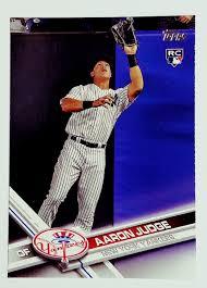 Aaron Judge Joins An Exclusive Club Of Yankees All Stars Pinstripe - 2017 topps aaron judge rookie card 287 pack fresh rc yankees