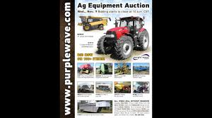ag equipment auction november 9 2016 purple wave youtube