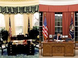 gold curtains in the oval office evolution of white house décor insider