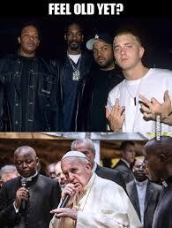 Pope Meme - eminem and pope francis humoar com
