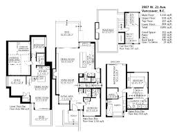 floor plans 3987 w 21st avenue in vancouver dunbar house for