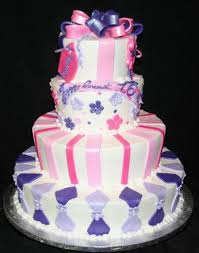 4 tier sweet 16 birthday cake cakecentral com