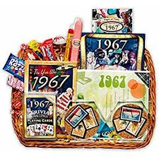 anniversary gift basket 50th birthday or 50th anniversary gift basket home