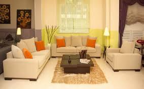 Cream Velvet Sofa Cream Velvet Sofa With Orange And Cream Cushions Plus Short Brown