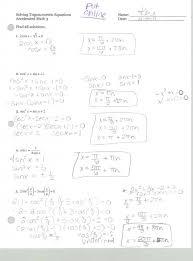 worksheet solve trig equations worksheet concept of solving trigonometric equations worksheet inspirational the solve trig