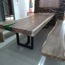 Resin Wood Outdoor Furniture by Spectaculer Suar Wood Dining Table With Resin Suar Wood