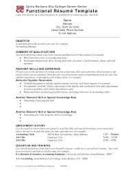 Functional Resume Templates Free Template Free Template Functional Resume Template Functional