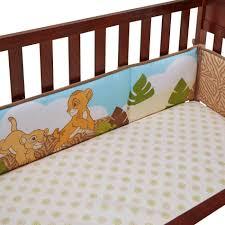 Lion King Crib Bedding by Disney 4 Piece Secure Me Crib Bumper The Lion King
