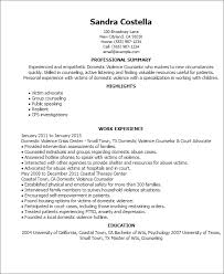 Resume Professional Statement Examples by Professional Domestic Violence Counselor Templates To Showcase