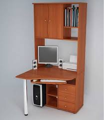 Small Computer Desk For Kitchen Small Desk With Shelves Whereibuyit Pertaining To Decor 4