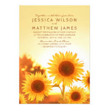 Sunflower Wedding Invitations Sunflower Wedding Invitations U0026 Announcements Zazzle Co Uk