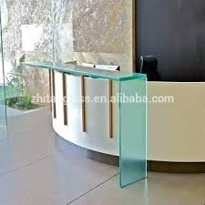Illuminated Reception Desk Glass Reception Desk Illuminated Screens Interque Co