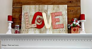 Valentines Day Vintage Decor by Diy Valentine Mantel Vintage Paint And More
