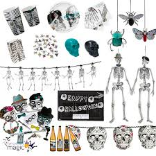 Halloween Skeleton Art Talking Tables Halloween Skeleton Skull Crew Party Partyware