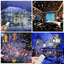 Light Flurries Snowflake Projector by Amazon Com Snowfall Led Lights Yoyokit Rotating Waterproof
