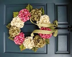 Wreath For Front Door Summer Wreaths Hydrangea Wreath Front Door Wreaths