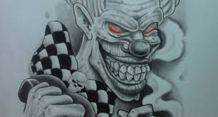 gangster clown tattoo designs category clown tattoos picture