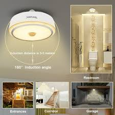 Ceiling Flood Lights Led Motion Sensor Stair Ceiling Light 12w E26 Automatic Switching