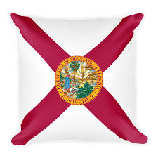 Florida Flag Facts Pillows Old States Of America